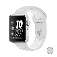 Watch Nike+ 42mm (MQ192) Silver Aluminum Case with Pure Platinum/White Nike Sport Band