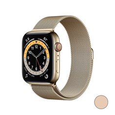 Watch Series 6 GPS + Cellular, 40mm Stainless Steel Case with Milanese Loop (Золотистый)