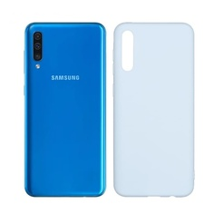 Чехол для Galaxy A50 Blue (Soft Touch)