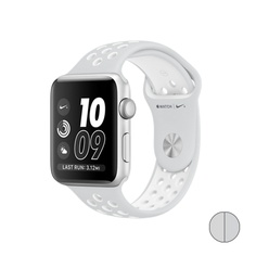 Watch Nike+ 38mm (MQ172) Silver Aluminum Case with Pure Platinum/White Nike Sport Band