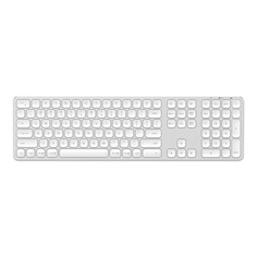 Aluminum Wireless Keyboard with Numeric Keypad Bluetooth, Silver