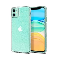 Чехол Spigen Liquid Crystal Glitter для iPhone 11 (Crystal Quartz)
