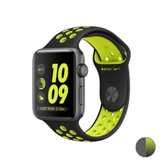 Watch Nike+ 38mm (MP082) Space Gray Aluminum Case with Black/Volt Nike Sport Band