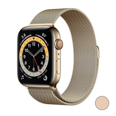Watch Series 6 GPS + Cellular, 44mm Stainless Steel Case with Milanese Loop (Золотистый)