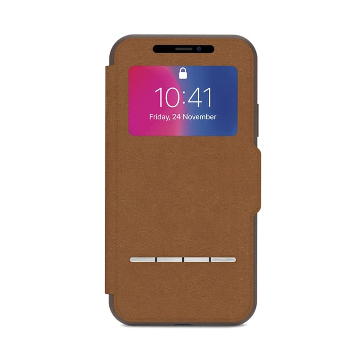 Чехол для iPhone X Moshi SenseCover Caramel Brown