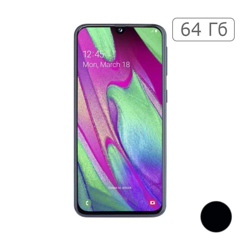 Galaxy A40 64Gb Black/Черный (RU)