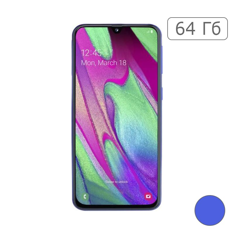 Galaxy A40 64Gb Blue/Синий (RU)