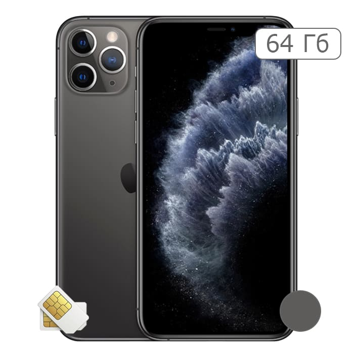 iPhone 11 Pro Max 64Gb Space Gray/Серый космос (2 sim)