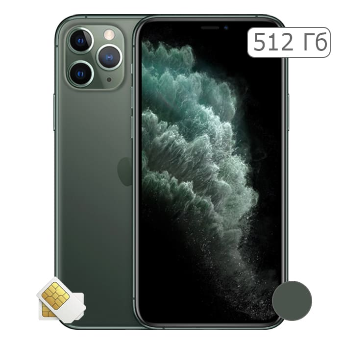 iPhone 11 Pro Max 512Gb Midnight Green/Зеленый (2 sim)