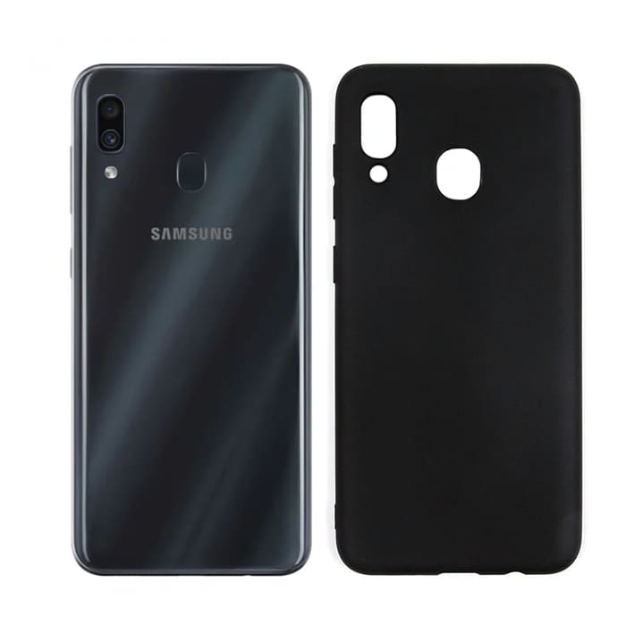 Чехол для Galaxy A30 Silicon Black