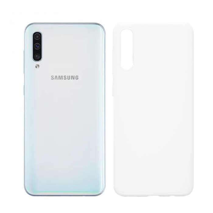 Чехол для Galaxy A50 White (Soft Touch)