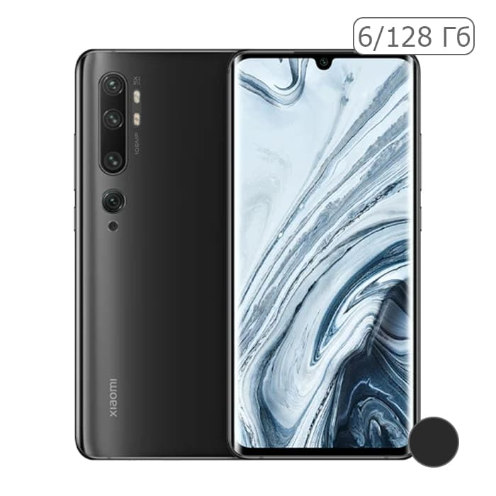 Xiaomi Mi Note 10 6/128GB Черный / Midnight Black EU