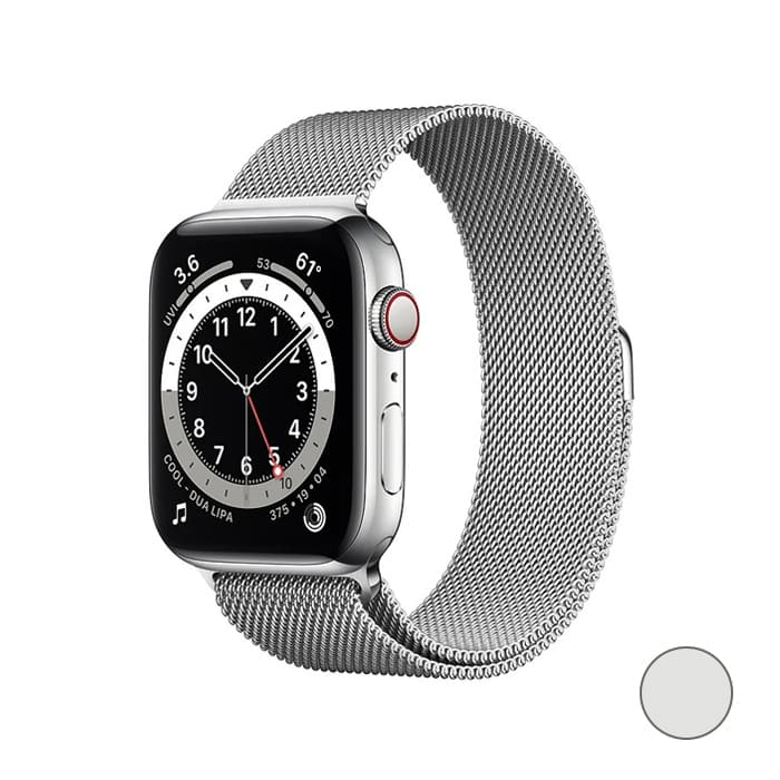 Watch Series 6 GPS + Cellular, 40mm Stainless Steel Case with Milanese Loop (Серебристый)