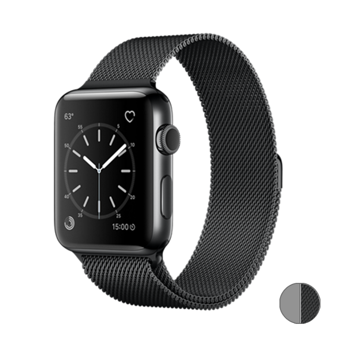Watch Series 2 42mm (MNQ12) Space Black Stainless Steel Case with Space Black Milanese Loop