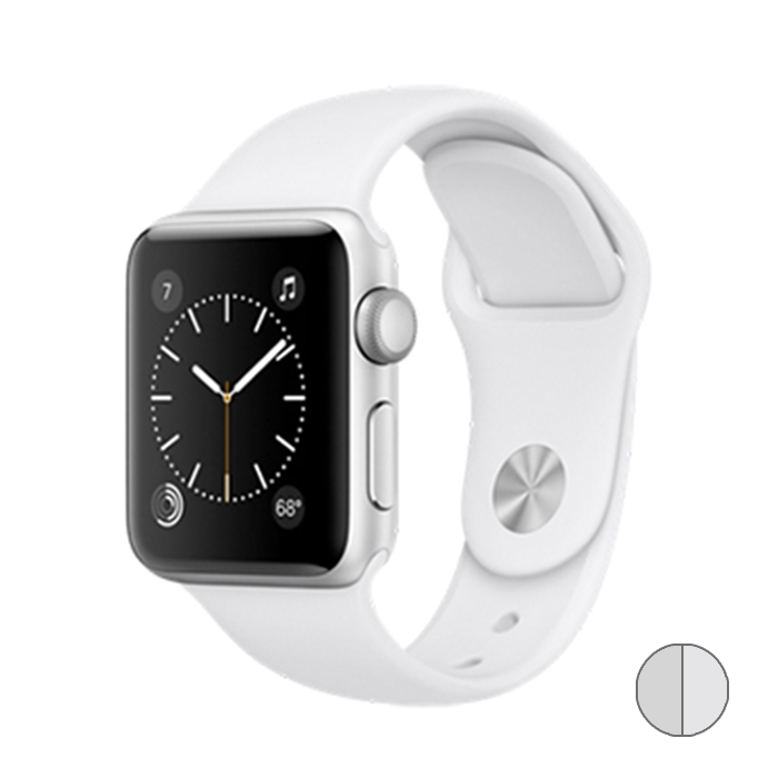 Watch Series 2 42mm (MNPJ2) Silver Aluminum Case with White Sport Band