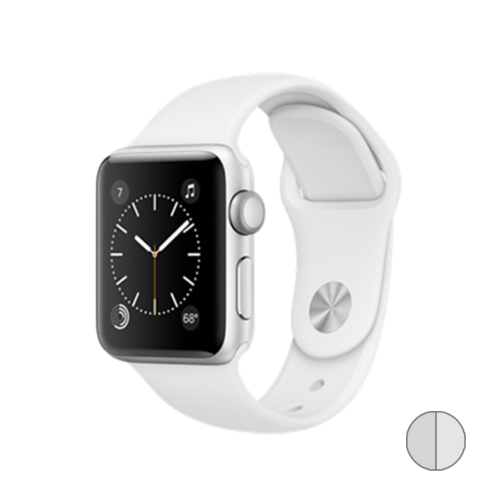 Watch Series 2 38mm (MNNW2) Silver Aluminum Case with White Sport Band