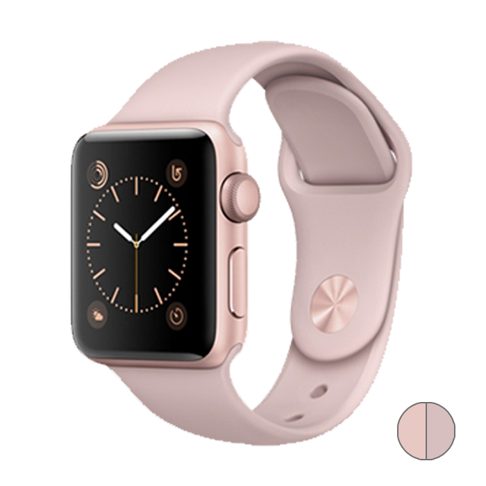 Watch Series 2 42mm (MQ142) Rose Gold Aluminum Case with Pink Sand Sport Band