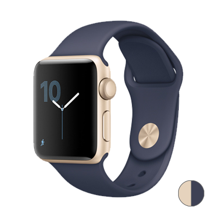 Watch Series 2 42mm (MQ152) Gold Aluminum Case with Midnight Blue Sport Band
