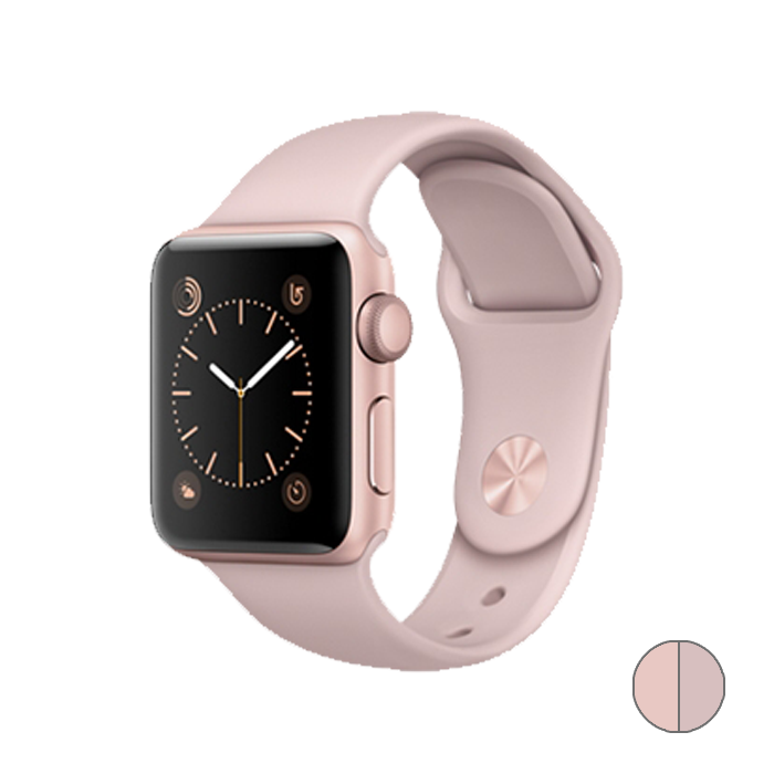 Watch Series 1 38mm (MNNH2) Rose Gold Aluminum Case with Pink Sand Sport Band