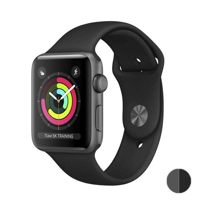 Watch Series 3 42 mm (MQL12) Space Gray Aluminum Case with Black Sport Band