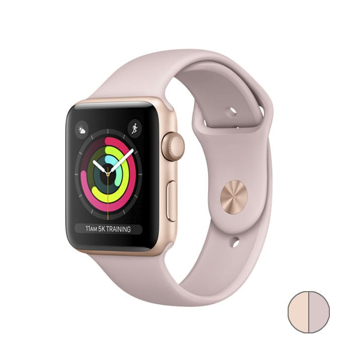 Watch Series 3 38 mm (MQKW2) Gold Aluminum Case with Pink Sand Sport Band